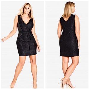 NWT City Chic Black Luscious Lace Sheath Dress 22